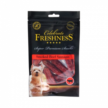 Freshness Celebrate Grain Free Smoked Beef Sausages