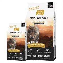 "Natura Wild Adult Dog Grain Free ""Manitoba Hills""με Πουλερικά, Πάπια & Γαλοπούλα"